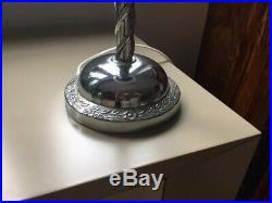 Original Art Deco Table Desk Lamp With Barley Twist Stem