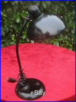 Original KAISER IDELL 6556 ART DECO 1940er Christian Dell Tischlampe Bauhaus