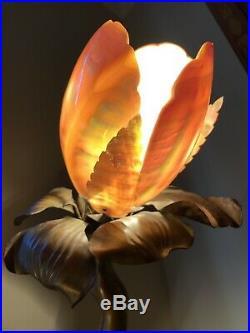 PAIR Antique Art Deco Nouveau Nautilus Seashell Shell Lamp Shade 5 Bulb Cover