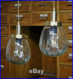 Paar Bauhaus Art Deco messing Bauhaus Deckenlampe Deckenleuchte 40er 50er Jahren