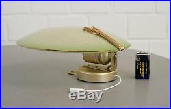 Paar Doria Wand Lampen Kino Scheibenlampen mit Goldrand Art Deco 20er Jahre RAR