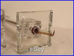 Pair Antique Vintage Art Deco Glass Lamp Boudoir Vanity Desk Table Lamps 20's