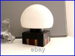 Paire de lampes design vintage Art Deco moderniste brutaliste géométriques