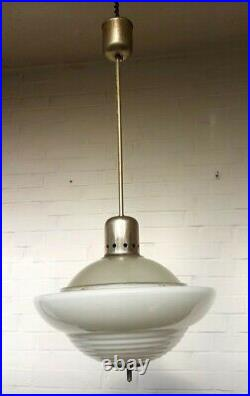 Pendelstableuchte Lampe Bauhaus Wiener Werkstätte 1930 Siemens art deco M. Brandt