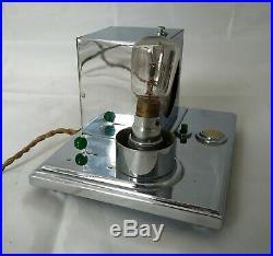 Pendulette réveil ELSA lampe Art Déco électrique / Desk lamp moderniste 1930