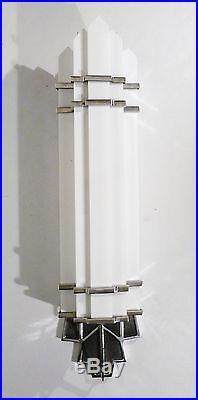 Pr Art Deco / Bauhaus Ceramic / Brass Bulbed Cylinder Form Table Lamps Lights