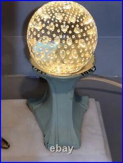 RARE 1920s Art Deco JB Hirsch Gerdago Reading Pixie Lamp On Marble Orig GLOBE