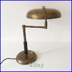 RARE & ORIG. Art Deco MAISON DESNY Desk Light TABLE LAMP Adnet BAUHAUS Era 1920s