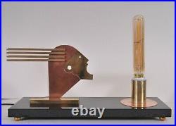 Rare Bauhaus style table lamp, Oskar Schlemmer, art deco design