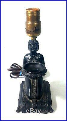Rare Egyptian Art Deco 1923 L V Aronson Lady Incense Burner Lamp Frankart Era