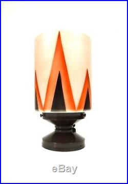 Rare German Bauhaus Cubist Light Suprematism Glass Ceiling Lamp 1925 Art Deco
