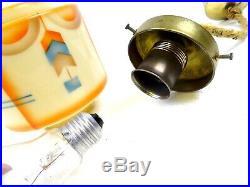 Rare German Bauhaus Suprematism Glass Hanging Ceiling Lamp 1925 Art Deco