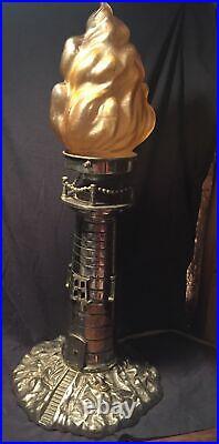 Rare Original Art Deco 1930s Lighthouse Lamp