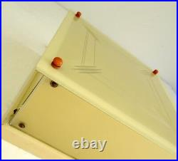 Rare Original German Bauhaus Ceiling Lamp Glass De Stijl Art Deco 1925