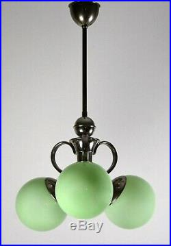Rare Original German Bauhaus Chandelier Metropolis 30s Ceiling Lamp Art Deco