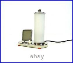 Rare Original German Bauhaus Table Lamp 1925 Chrome Glass Photo Stand Art Deco