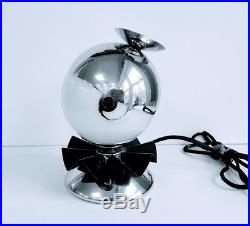 Rare Revere Rome, NY. Coquette Art Deco Boudoir Lamp by Norman Bel Geddes 1936