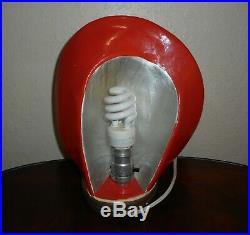 Rare Vintage Art Deco Style Chalk Ware/ceramic Ladies Head, Tv Lamp