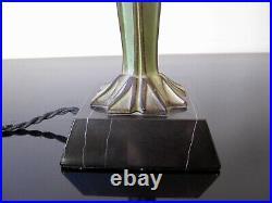 Rare ancienne Lampe Max Le Verrier FLAMANTS. Sculpture Art Déco