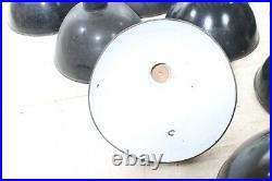 Riesige alte Emaillampe, Art Deco Fabriklampe Werkstattlampe, Emaille Loft Lampe