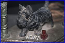 SCOTTISH TERRIER lamp VINTAGE 1930'S cast metal Scotty DOG art deco table light