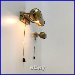 SET of TWO Elegant BAUHAUS Art Deco WALL LAMPS Sconces BRASS, 1930, Germany