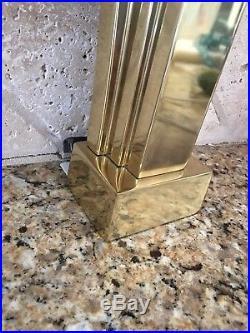 STIFFEL Pair Petit Art Deco Revival Brass Accent Lamps, circa 1970s Midcentury