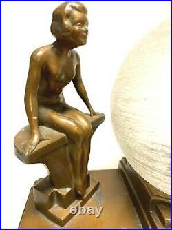 STUNNING ORIGINAL ART DECO TABLE LAMP 20cm X 21cm