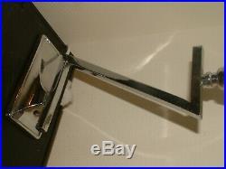 SUPERB Z shaped CHROME MODERNIST ART DECO LAMP LAMPE RARE CZECH STAR SHADE