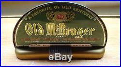 Scarce 1930s Art Deco McBrayer Whiskey Cab Light Beer Bar Sign Lamp Price Bros