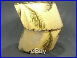 Scarce PAIR Art Deco Era Fiberglass Lamp Shades Offset Design Socket Attach Type