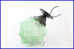 Schöne alte Lampe Hängelampe Glaslampe Deckenlampe art deco Glas vintage Leuchte