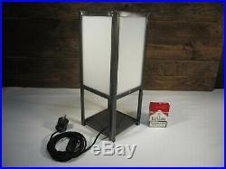 Schwere Art Deco Tischlampe 40cm Industrie Design Tischleuchte 100% Handarbeit