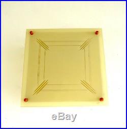 Sehr Seltene Bauhaus Glas Deckenlampe Leuchte De Stijl 1925 Art Deco Lamp