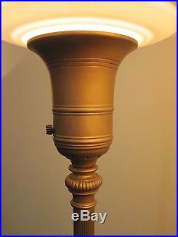 Art Deco Lamp 187 Set Of 2 Vtg Funeral Home Floor Lamp