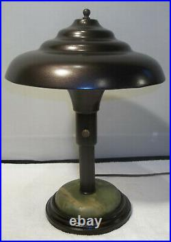 Streamline Modernist Art Deco Flying Saucer Desk Lamp c. 1930's RESTORED