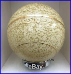 Stylish Art Deco Saturn Style Glass Lamp Shade With Original Chrome Gallery