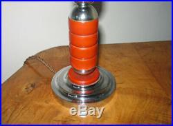 Superb Original ART DECO Catalin & Chrome Table LAMP 1930s Bakelite Modernist