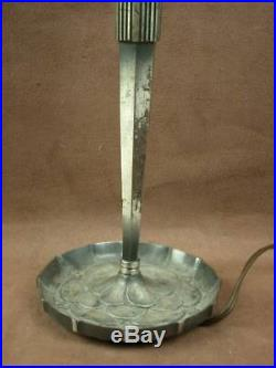 Superbe Pied De Lampe En Bronze Argenté Epoque Art Deco 1930