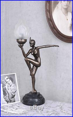 TISCHLAMPE ART DECO TÄNZERIN LAMPE BAUHAUS TISCHLEUCHTE FRAUENFIGUR 20er Jahre
