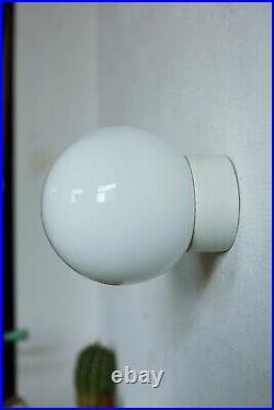 TRUE VINTAGE Art Deco BAUHAUS OPAL WANDLAMPE 70er Flur Küche Bad Loft Lampe #2