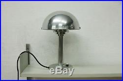 TRUE VINTAGE BAUHAUS TISCHLAMPE Lampe Art Deco 30s Aluminium poliert 40s Leuchte