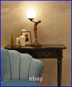 Table Desk Lamp Art Deco Figurine Erotic Female Act Light Metropolis