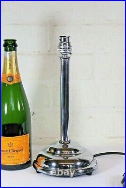 Table Lamp An Art Deco Chromed Brass Lamp Early 20th C. Modernist Simple Design