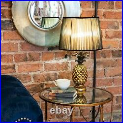 The Isla Pineapple Table Lamp. Striking art deco dark Brown & Gold. Impressive