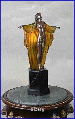 Tischlampe Art Deco Skulptur Tänzeriin 20er Jahre Stil Leuchte Lampe Frauenfigur