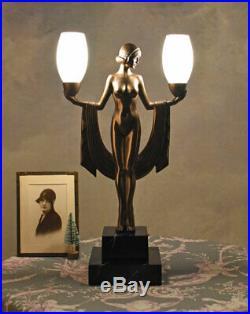 Tischlampe Frauenakt Lampe Art Deco Tischleuchte 20er Jahre Leuchte Dekolampe