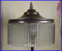 Tischlampe Schreibtischlampe Stehlampe Art Deco Lampe Glas Messing