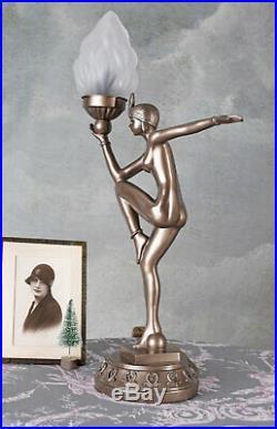 Tischleuchte Femme Fatale Lampe Antik Tischlampe Art Deco Nachttischlampe Retro