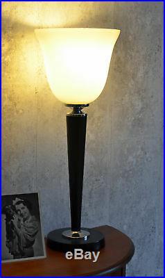 Tischleuchte schwarz Art Deco Mazda Lampe Bauhaus Leuchte Purismus Tischlampe